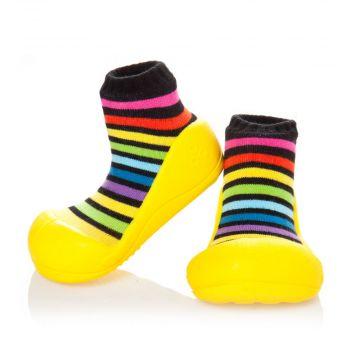 """Pirmieji batukai kūdikiams Attipas """"Rainbow"""" geltonos sp."""