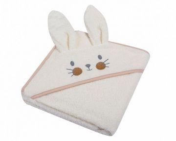 "Beebi rätik kapuutsiga ""Bunny"" 80x80 cm beež"