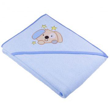 Kūdikio rankšluostis su gobtuvu ir šuniuku